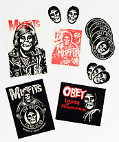 Obey X Misfits paquete de pegatinas