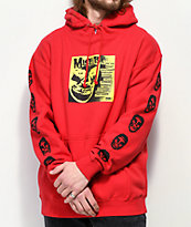 "Obey x Misfits 7"" Cover Red Hoodie"