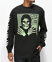 Obey x Misfits Fiend Club Halloween Black Long Sleeve T-Shirt