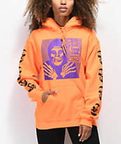 Obey x Misfits Fiend Club Halloween Orange Hoodie