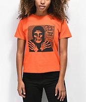 Obey x Misfits Fiend Club Halloween Orange T-Shirt