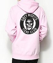 Obey x Misfits Fiend Club Pink Hoodie