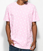 Odd Future All Over Donut Pink & White T-Shirt