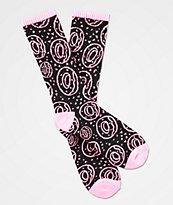 Odd Future Allover Donut Black & Pink Crew Socks