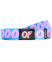 Odd Future Big Donut Turquoise Web Belt