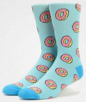 Odd Future Donut Allover Light Blue Crew Socks