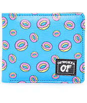 Odd Future Donut cartera plegable en color turquesa
