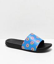 Odd Future Donuts Blue & Black Slide Sandals