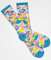 Odd Future Multi-Colored Camo Crew Socks
