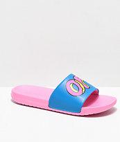 Odd Future Sliders Turquoise & Pink Slide Sandals