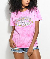 Odd Future x Randy's Donuts camiseta rosa con efecto tie dye