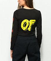 Odd Future x Santa Cruz Logo camiseta negra de manga larga