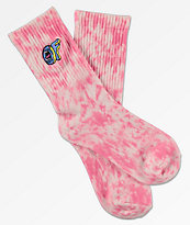 Odd Future x Santa Cruz Pink Wash Crew Socks
