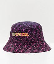 Odd Future x Santa Cruz Screaming Donut Black, Purple & Pink Bucket Hat