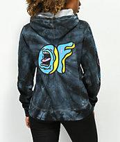 Odd Future x Santa Cruz sudadera con capucha negra con efecto tie dye