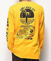 Open925 Protect Ya Neck Yellow Long Sleeve T-Shirt