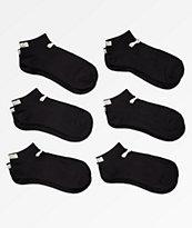 PUMA 6 Pack Low Cut Black Socks
