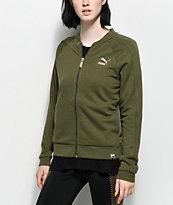 PUMA Archive Logo T7 Olive Jacket
