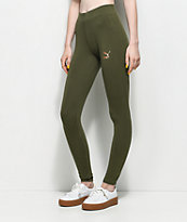 PUMA Archive Logo T7 Olive Leggings
