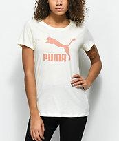 PUMA Archive Off White Logo T-Shirt