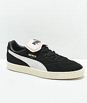 PUMA King Suede Black & Whisper White Shoes