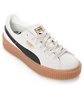 PUMA Platform Core zapatos de ante en blanco y negro para mujeres