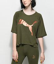 PUMA Transition Olive & Metallic T-Shirt