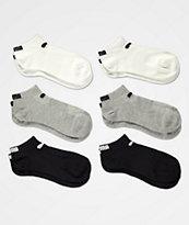 PUMA paquete de 6 calcetines en negro, gris y blanco