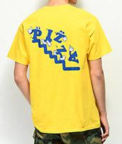 Pizza Watch Your Step camiseta amarilla