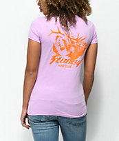 Post Malone Stoney Buck Hunt Club camiseta en color lila y naranja