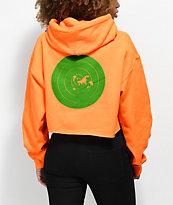Post Malone Stoney Target Hunt Club sudadera corta con capucha en naranja