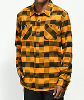 Primitive Buffalo Ikat camisa de franela anaranjada