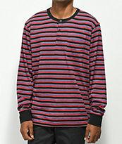 Primitive Drake Multi Stripe Henley Long Sleeve T-Shirt