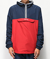 Primitive Taped Red and Navy Anorak Jacket