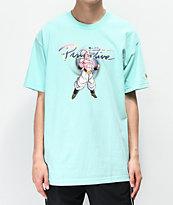 Primitive x Dragon Ball Z  Nuevo Majin Buu Celadon Blue T-Shirt