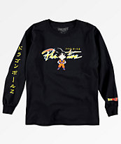 Primitive x Dragon Ball Z Boys Goku Nuevo Black Long Sleeve T-Shirt