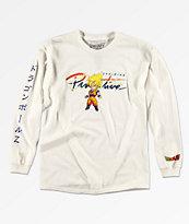 Primitive x Dragon Ball Z Boys Goku Saiyan White Long Sleeve T-Shirt