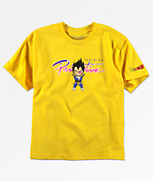 Primitive x Dragon Ball Z Boys Vegeta Nuevo Yellow T-Shirt