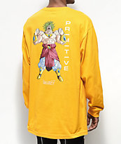 Primitive x Dragon Ball Z Broly Gold Long Sleeve T-Shirt