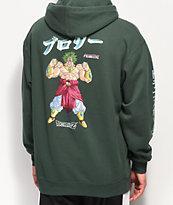 Primitive x Dragon Ball Z Broly sudadera verde con capucha