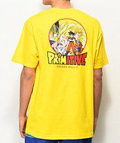 Primitive x Dragon Ball Z Circle Yellow T-Shirt
