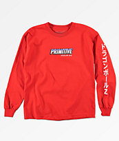 Primitive x Dragon Ball Z Frieza Mecha camiseta roja de manga larga par niños