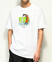 Primitive x Dragon Ball Z Goku & Frieza camiseta blanca