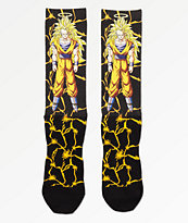 Primitive x Dragon Ball Z Goku Power Level Black Crew Socks