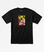Primitive x Dragon Ball Z Goku Saiyan camiseta negra