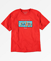 Primitive x Dragon Ball Z Heroes camiseta roja para niños