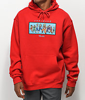 Primitive x Dragon Ball Z Heroes sudadera con capucha roja