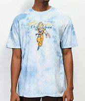 Primitive x Dragon Ball Z Nuevo Super Saiyan Goku Blue Washed T-Shirt