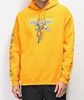 Primitive x Dragon Ball Z Nuevo Super Saiyan Goku sudadera con capucha dorada