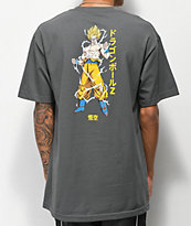 Primitive x Dragon Ball Z Super Saiyan Goku Charcoal T-Shirt